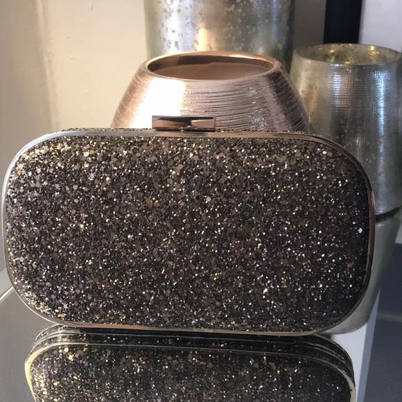 c44d04e93 Anya Hindmarch Bags | Bronze Marino Glitter Clutch | Poshmark
